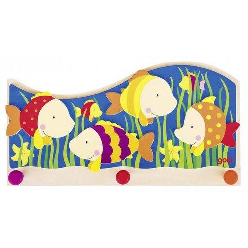 Goki Goki - Kapstok - Kleurrijke vissen - 3 Haakjes