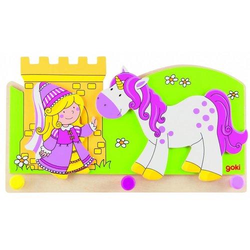 Goki Kapstok - Prinses met eenhoorn - 3 Haakjes