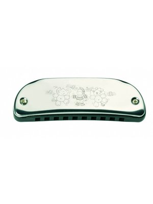 Goki Goki - Mondharmonica - 10 tonen - 10,5cm - Metaal