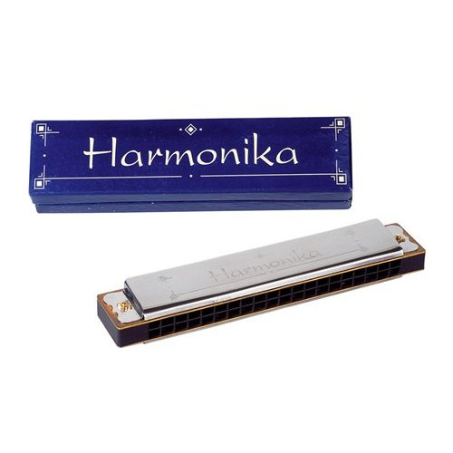 Goki Mondharmonica - 10 Tonen - 10cm - Metaal