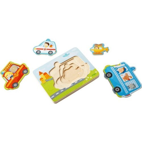 Haba Puzzel - In actie - Hout - 4st.