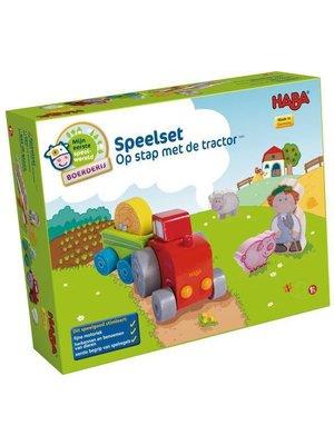 Haba Haba - Speelset - Op stap met de tractor