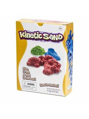 Kinetic sand - 3kg - Rood, groen & blauw
