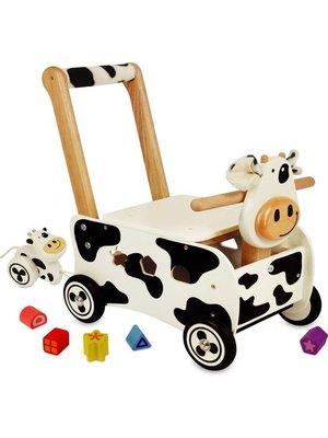 I'm Toy I'm Toy - Loop/duwwagen - Koe - Met zacht handvat