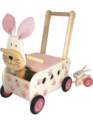 I'm Toy Loopkar / duwwagen - Konijn - Roze