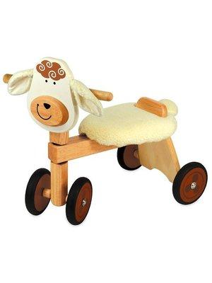 I'm Toy I'm Toy - Loopfiets - Schaap - Met stoffen zitje - 1+