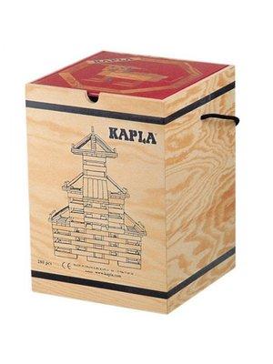 Kapla Plankjes - Kapla - Blank - 280st. - In kist - Met rood boek
