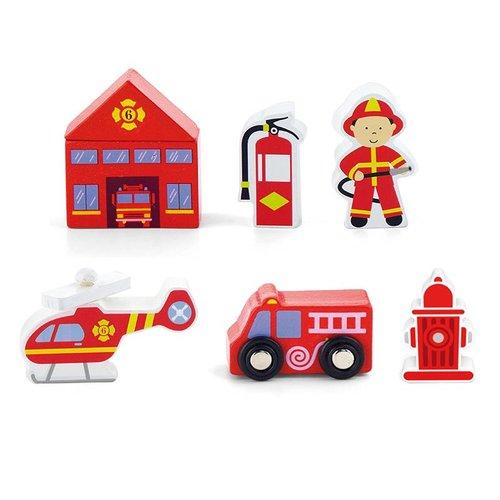 Vigatoys Speelfiguren - Brandweer - 7dlg.