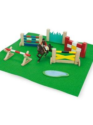 Le Toy Van Poppenhuis accessoires - Paarden obstakelset - Springset