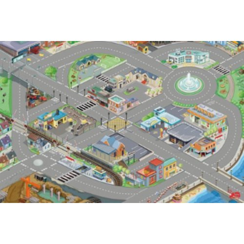 Le Toy Van Speelmat - Stad - Autospeelkleed