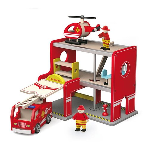 Vigatoys Vigatoys - Brandweerkazerne - Met auto & helikopter