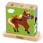 Vigatoys Vigatoys - Blokpuzzel - Boerderijdieren