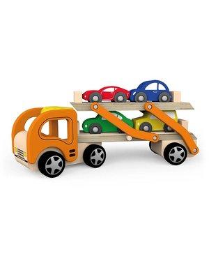 Vigatoys Autotransporter - Incl. 4 auto's