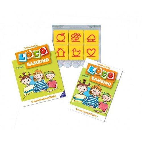 Loco Leerspellen Loco Bambino - Concentratiespelletjes - 3/5 Jaar - Pakket