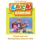 Loco Leerspellen Loco Bambino - Puzzel mee met Koning Koos, Sassa & Toto - 3/5 jaar