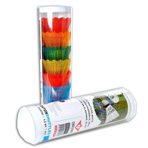 Engelhart Shuttles - Plastic - Neon - 6 st. In koker - 4,5/5gr