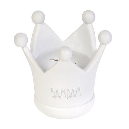Bambam BamBam - Spaarpot - Kroon - Wit