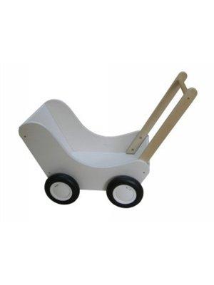 Van Dijk toys Poppenwagen - Wit