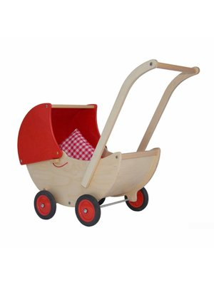 Van Dijk toys Poppenwagen - Rood