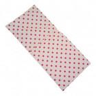 Van Dijk Toys Van Dijk Toys - Bedbekleding/dekje - Wit met roze stippen