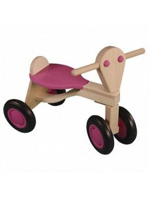 Van Dijk toys Loopfiets - Berken - Roze - 1+