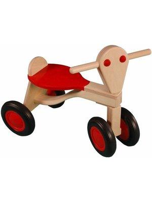 Van Dijk toys Loopfiets - Rood - Berken - 1+