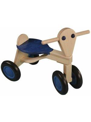 Van Dijk toys Loopfiets - Donker blauw - Berken - 1+