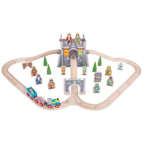 BigJigs Bigjigs - Rails - Treinset - Middeleeuws kasteel