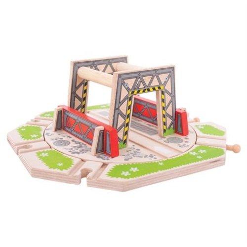 BigJigs Rails - Draaiplateau - Industrieel