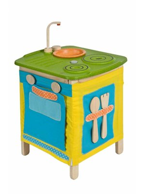 Plan Toys PlanToys - Speelkeuken - Hout met stof