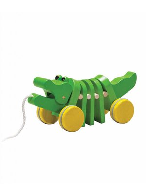 Plan Toys PlanToys - Trekdier - Dansende krokodil - Groen - 5105