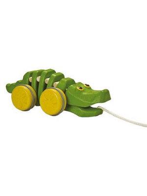 Plan Toys PlanToys - Trekdier - Dansende krokodil - Groen - 5609