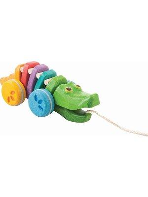 Plan Toys PlanToys - Trekdier - Dansende krokodil - Regenboog