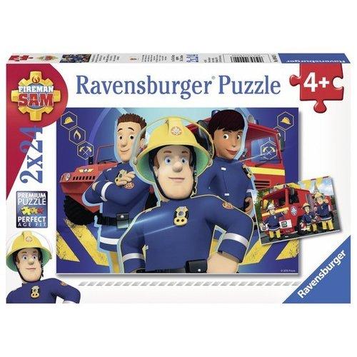 Ravensburger Puzzel - Brandweerman Sam helpt je uit de brand - 2x24st.