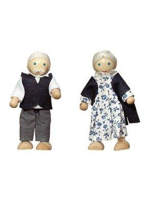 Dudu Toys - Poppenhuispoppetjes - Opa en Oma Bakker