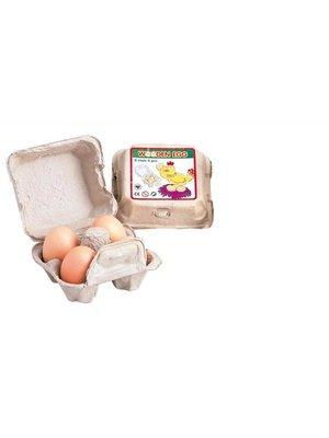 Santoys Speelgoedeten - Eieren - In doosje - 4dlg.