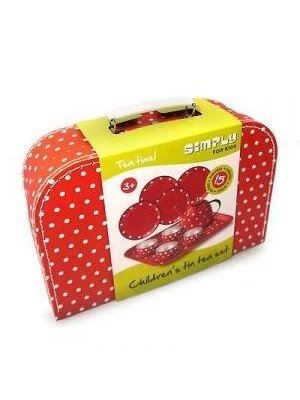 Simply for kids Simply for Kids - Theeservies - Rood met witte stippen
