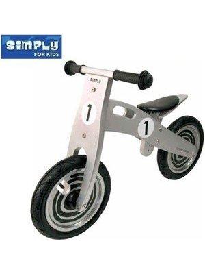 Simply for kids Simply for Kids - Tweewieler - Zilver/zwart - 3+