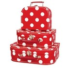 Simply for kids Simply for Kids - Kofferset - 3 Koffertjes - Rood met witte stippen