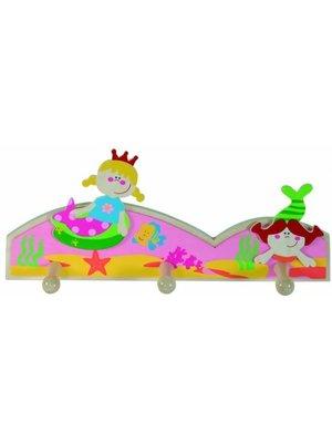 Simply for kids Simply for Kids - Kapstok - Zeemeermin - 3 Haakjes