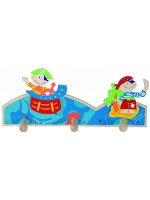 Simply for kids Simply for Kids - Kapstok - Piraat - 3 Haakjes