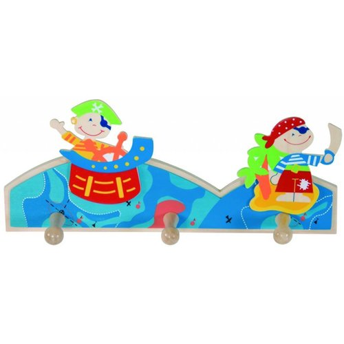 Simply for kids Kapstok - Piraat - 3 Haakjes