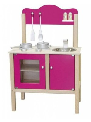 Simply for kids Simply for Kids - Speelkeuken - Blank/hardroze