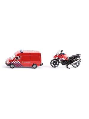 Siku Brandweerwagen & motor - Siku
