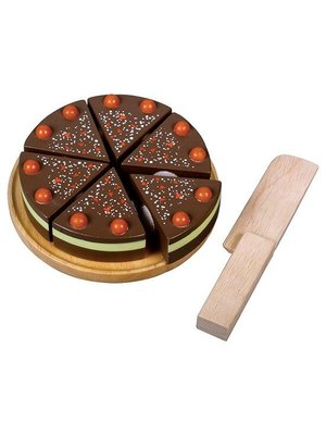 Santoys Speelgoedeten - Chocoladetaartje - Snijset