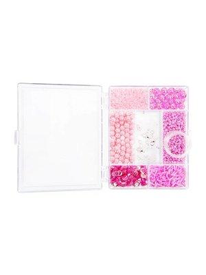 Egmont Kralen - Licht roze - in rechthoekige doosje