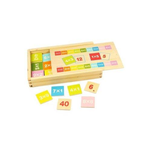 BigJigs Leerspel - Tafels leren - In kistje
