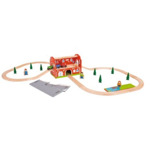 BigJigs Bigjigs - Rails - Draagbaar stationset
