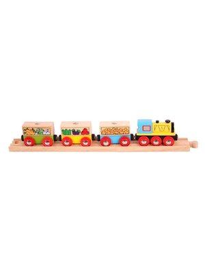 BigJigs Bigjigs - Rails - Treinset - Fruit & groente