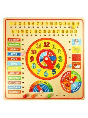 BigJigs Kalender, klok, dagen & maanden